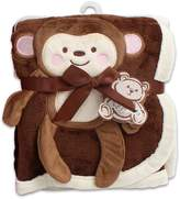SweetHomeStore Baby Blanket w/ Monkey Design - 30x40""