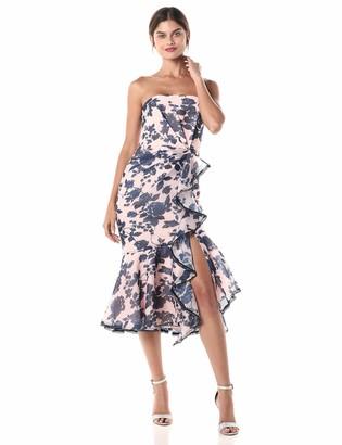 Keepsake Women's Mindful Pleated Long Sleeve Belted Sheath Dress