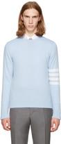 Thom Browne Blue Classic Crewneck Pullover