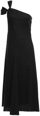 GOEN.J One-shoulder Gathered Jersey Midi Dress