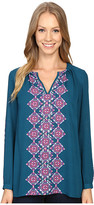 Hatley Pleated Neckline Blouse