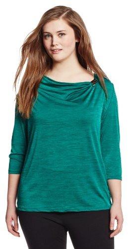 Sag Harbor Women's Plus-Size Malone Knit Top