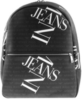 Giorgio Armani Jeans Logo Backpack Bag Black