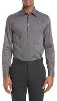 Armani Collezioni Men's Trim Fit Textured Neat Sport Shirt