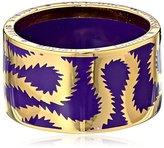 Vivienne Westwood Men's Squiggle Band Ring Dark Plum Ring LG (US 8)