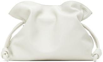 Loewe White Flamenco Clutch