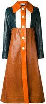 Marni colour-block coat - women - Goat Skin/Viscose - 40
