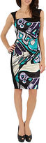 Debbie Shuchat Abstract Sheath Dress