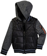 Urban Republic Space Dye Matte Ciree 2fer Jacket (Toddler & Little Boys)