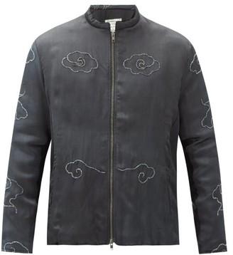 By Walid Embroidered Vintage Silk Jacket - Black