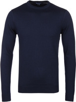 Aquascutum Fenton Navy Crew Neck Wool Sweater