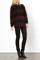 Knot Sisters Oxblood Purba Sweater