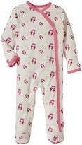 Baby Soy Organic Pattern Footie (Baby) - Pink Bear - 12-18 Months