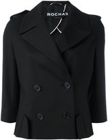 Rochas double breasted blazer - women - Cotton/Silk/Spandex/Elastane - 42