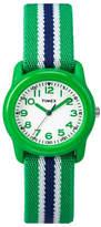 Timex Youth Analog Striped Fabric Strap Watch