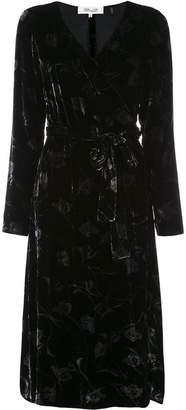 Diane von Furstenberg crushed velvet wrap dress
