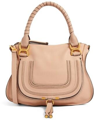 Chloé Medium Grained Leather Marcie Handbag