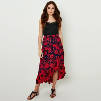 Joe Browns Asymmetric Floral Print Midaxi Skirt