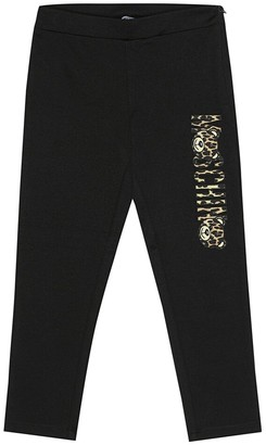MOSCHINO BAMBINO Printed stretch jersey pants