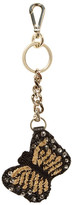 Alice + Olivia Embellished Butterfly Leather Key Ring