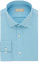 Michael Kors Men's Classic Big and Tall Fit Non-Iron Green Solid Dress Shirt