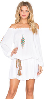 Pia Pauro Off Shoulder Embroidered Mini Dress