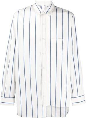 Lanvin Asymmetric Striped Shirt