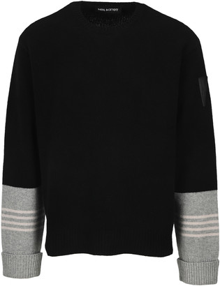 Neil Barrett Striped Cuff Sweater