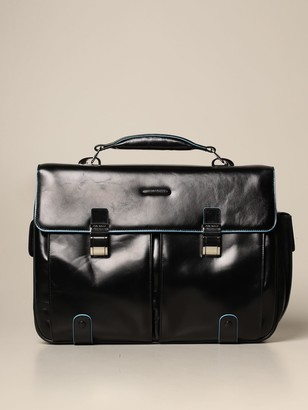 Piquadro Square Satchel Bag In Calfskin