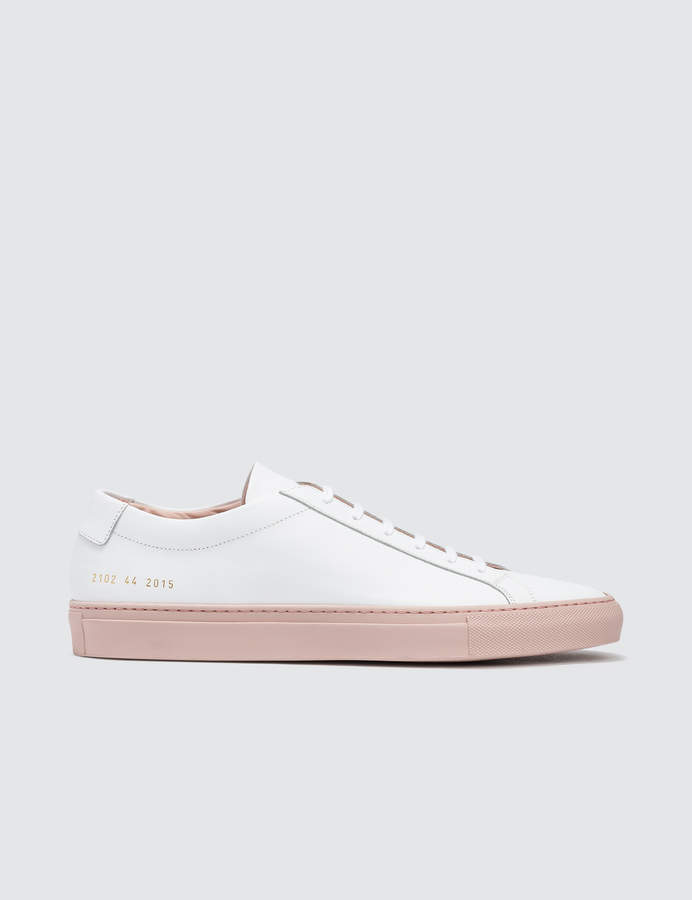 Common Projects Achilles Low W/ Colored Sole