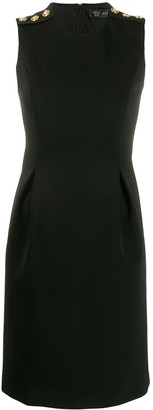 Versace Medusa embellished sleeveless mini dress