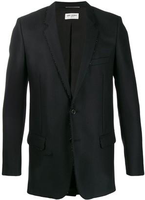 Saint Laurent beaded embellishment blazer
