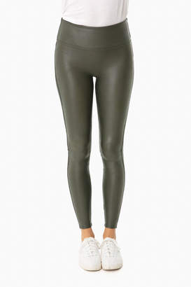 Spanx Olive Ready to Wow Faux Leather Leggings