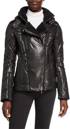 Bogner Drew Faux Leather Smooth & Quilted Ski jacket