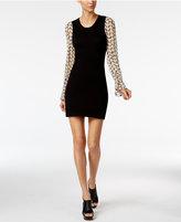Love Moschino Sunflower-Print Sweater Dress