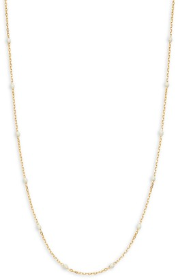 Saks Fifth Avenue Made In Italy 14K Yellow Gold Enamel Bead Chain Necklace