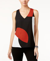 INC International Concepts Sleeveless Colorblocked Top, Only at Macy's