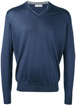Brunello Cucinelli v-neck jumper - men - Silk/Cashmere - 46