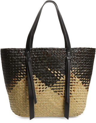 AllSaints Playa East/West Woven Straw Beach Tote