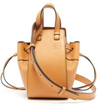 Loewe Hammock Mini Leather Tote Bag - Tan