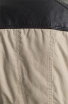 GUESS Mix Media Short Trench Coat
