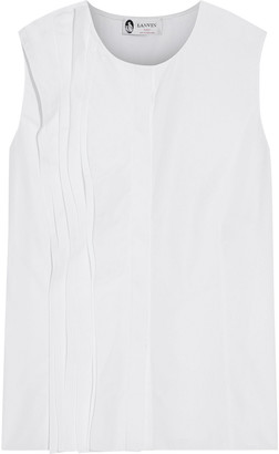 Lanvin Pintucked Cotton-poplin Top