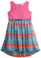 Sweet Heart Rose Sweetheart Rose Girls 2-6x Sleeveless Crochet Lace Chiffon Dress
