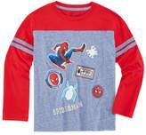 Spiderman Long Sleeve Crew Neck T-Shirt-Preschool Boys