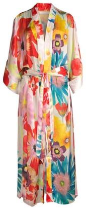 Carolina K. Lexi Floral Silk-Blend Kimono