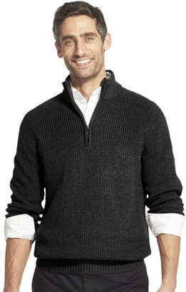 Izod Men's Classic-Fit Sherpa Collar Quarter-Zip Pullover Sweater