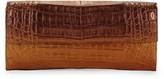 Nancy Gonzalez Small Flap Crocodile Leather Clutch
