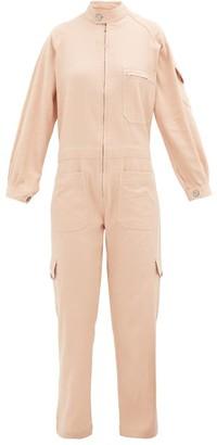 Marrakshi Life - High-neck Zipped Cotton-blend Jumpsuit - Light Pink