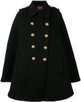 Roberto Cavalli buttoned cape - women - Virgin Wool/Viscose/Polyester - 40