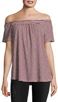 Style And Co. Striped Off-the-Shoulder Top